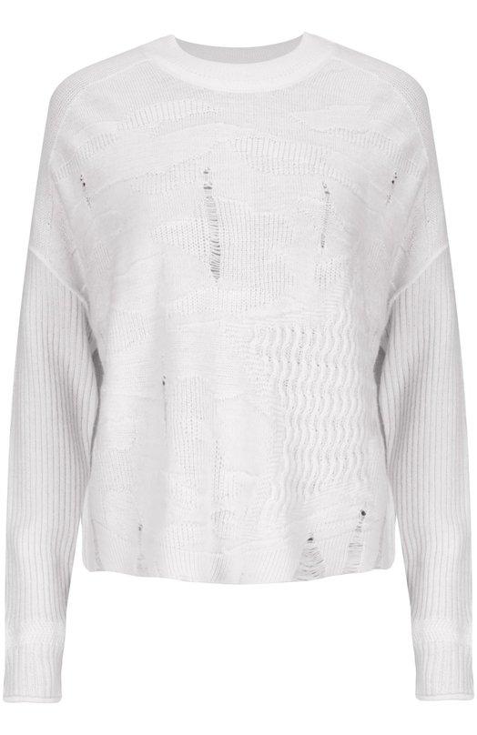 Вязаный пуловер Sonia RykielСвитеры<br>Мастера бренда, основанного Соней Рикель, изготовили пуловер из мягкой тонкой шерсти альпаки. Изделие с круглым вырезом и длинными рукавами вошло в осенне-зимнюю коллекцию 2015 года. Нам нравится носить с юбкой, полушубком и ботильонами.<br><br>Российский размер RU: 48<br>Пол: Женский<br>Возраст: Взрослый<br>Размер производителя vendor: L<br>Материал: Шерсть: 53%; Шерсть альпака: 47%;<br>Цвет: Белый