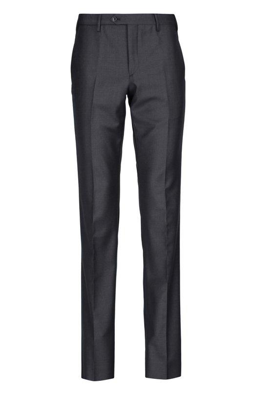 Брюки Giorgio ArmaniБрюки<br>При изготовлении брюк из осенне-зимней коллекции 2015 года мастера бренда, основанного Джорджио Армани, использовали мягкую серую ткань с добавлением кашемира. Наши стилисты советуют сочетать с серой сорочкой, блейзером и бордовыми брогами.<br><br>Российский размер RU: 58<br>Пол: Мужской<br>Возраст: Взрослый<br>Размер производителя vendor: 56<br>Материал: Шерсть овечья: 90%; Подкладка-ацетат: 60%; Подкладка-купра: 40%; Кашемир: 10%;<br>Цвет: Серый