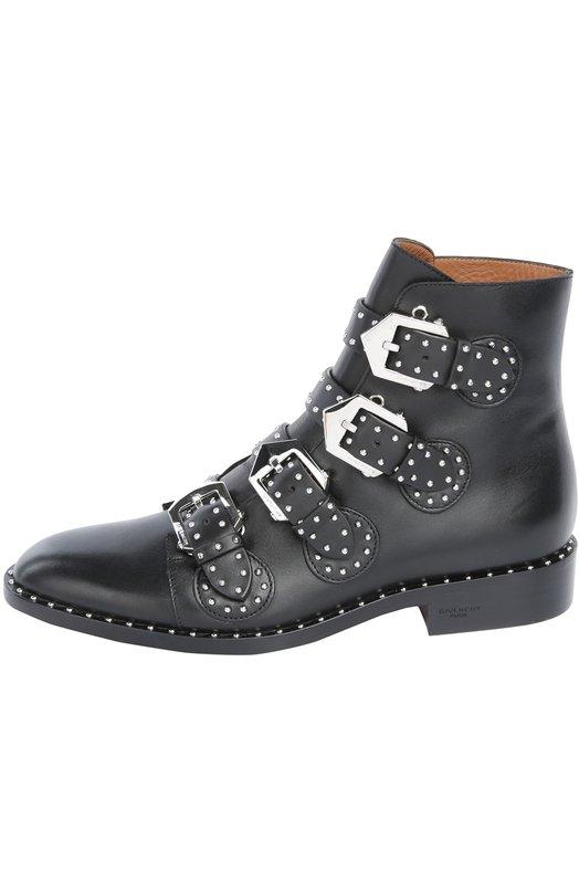 Кожаные ботинки с ремнями и заклепками Givenchy BE0/8143/004
