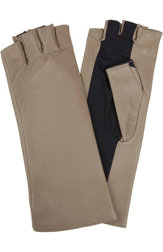 Кожаные перчатки AgnelleПерчатки<br><br><br>Российский размер RU: 7<br>Пол: Женский<br>Возраст: Взрослый<br>Размер производителя vendor: 7-5<br>Материал: Отделка-полиамид: 72%; Отделка-эластан: 28%; Подкладка-шелк: 100%; Кожа натуральная: 100%;<br>Цвет: Темно-бежевый