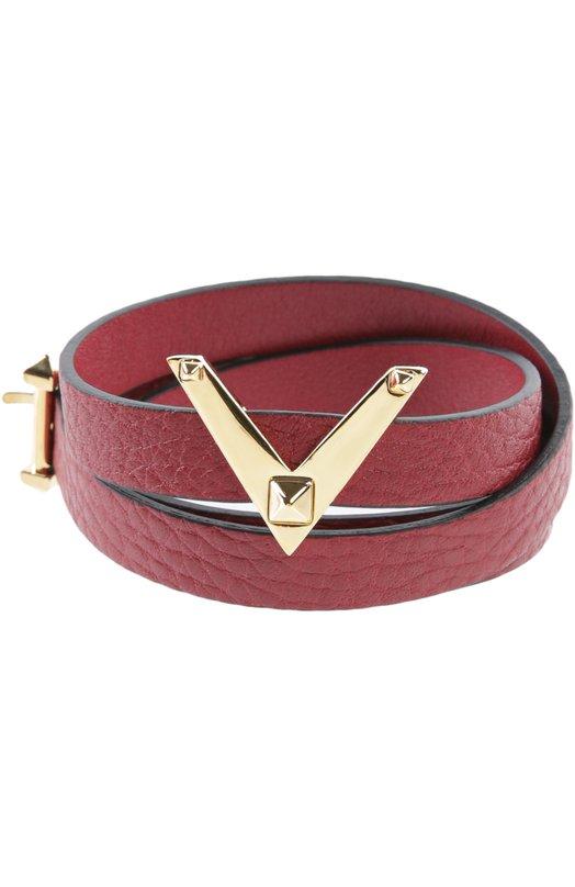 Кожаный браслет с логотипом бренда Valentino JW2J0852/VSL
