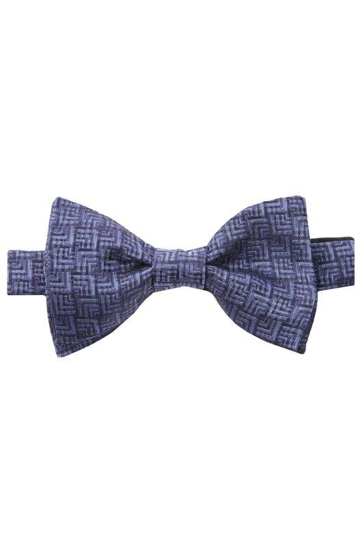 Галстук-бабочка LanvinГалстуки<br>Для изготовления галстука-бабочка Self-Tie мастера марки использовали фактурный шелк темно-синего цвета с контрастным геометрическим узором. Аксессуар ручной работы вошел в коллекцию сезона осень-зима 2016 года.<br><br>Пол: Мужской<br>Возраст: Взрослый<br>Размер производителя vendor: NS<br>Материал: Шелк: 100%;<br>Цвет: Темно-синий