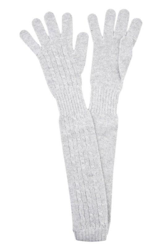 Перчатки Kashja` CashmereПерчатки<br>В осенне-зимнюю коллекцию 2015 года вошли светло-серые длинные перчатки с широкой резинкой на запястье. Мастера бренда выполнили модель из мягкого тонкого кашемира в технике чулочной вязки с узорами в форме жгутов.<br><br>Материал: Кашемир: 100%;<br>Размер производителя vendor: NS<br>Цвет: Светло-серый<br>Пол: Женский<br>Возраст: Взрослый