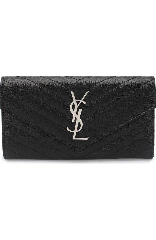 Портмоне Monogramme Saint Laurent Saint Laurent, 372264/B0W02, Италия, Черный, Кожа натуральная: 100%;  - купить