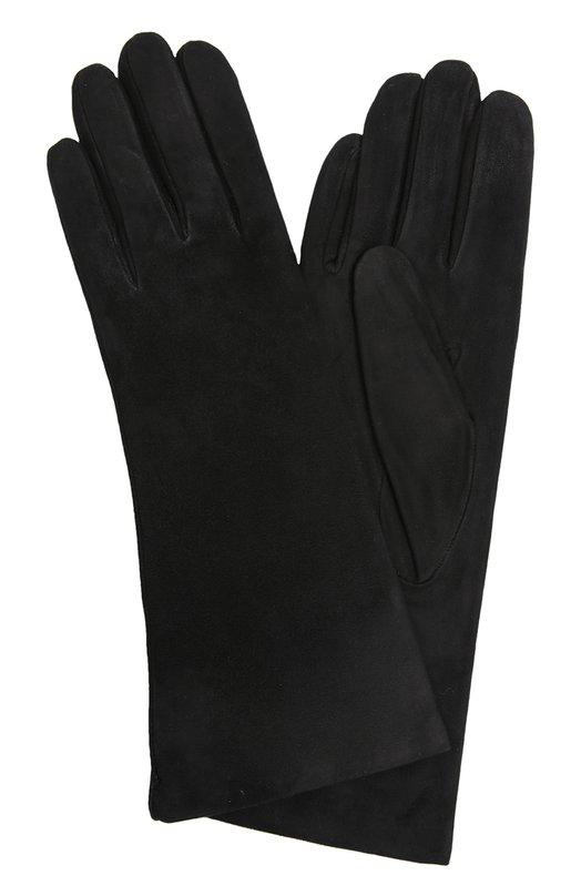 Перчатки Sermoneta GlovesПерчатки<br>Черные перчатки изготовлены мастерами бренда, основанного Джорджио Сермонета, вручную из мягкой и тонкой замши графитового цвета. Дизайнеры марки включили укороченный аксессуар в классическую коллекцию.<br><br>Российский размер RU: 6<br>Пол: Женский<br>Возраст: Взрослый<br>Размер производителя vendor: 6<br>Материал: Замша натуральная: 100%; Подкладка-кашемир: 100%;<br>Цвет: Черный