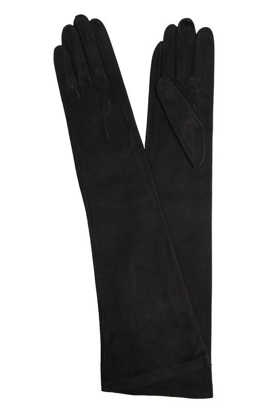 Перчатки Sermoneta GlovesПерчатки<br><br><br>Российский размер RU: 7<br>Пол: Женский<br>Возраст: Взрослый<br>Размер производителя vendor: 7<br>Материал: Подкладка-шелк: 100%; Замша натуральная: 100%;<br>Цвет: Черный