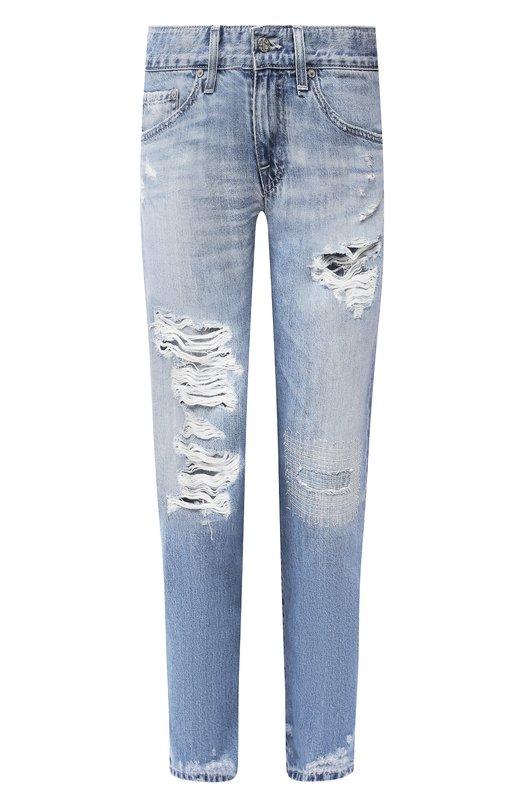 Джинсы AgДжинсы<br>Адриано Голдшмид включил укороченные джинсы The Ex-boyfriend в осенне-зимнюю коллекцию 2015 года. Модель с заниженной линией талии выполнена из плотного светло-голубого хлопка с потертостями. Рекомендуем носить с джемпером и сникерами.<br><br>Российский размер RU: 40<br>Пол: Женский<br>Возраст: Взрослый<br>Размер производителя vendor: 25<br>Материал: Хлопок: 100%;<br>Цвет: Голубой
