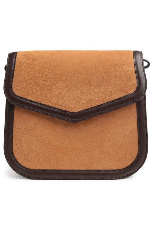 Замшевая сумка V на цепочке Loewe 302.77.M03