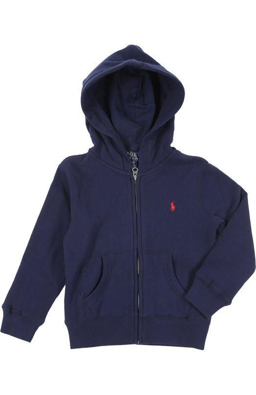 Кардиган спортивный Polo Ralph LaurenКардиганы<br>В производстве худи синего цвета мастера бренда, основанного Ральфом Лореном, использовали мягкий эластичный хлопок джерси. Модель украшена эмблемой марки в виде игрока в поло, вышитой контрастной нитью.<br><br>Размер Months: 18<br>Пол: Мужской<br>Возраст: Детский<br>Размер производителя vendor: 86-92cm<br>Материал: Хлопок: 87%; Полиэстер: 13%;<br>Цвет: Синий