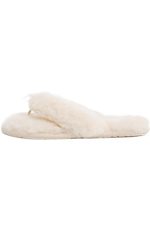 Утепленные домашние шлепанцы UGG AustraliaДомашняя обувь<br><br><br>Российский размер RU: 37<br>Пол: Женский<br>Возраст: Взрослый<br>Размер производителя vendor: 37<br>Цвет: Светло-бежевый