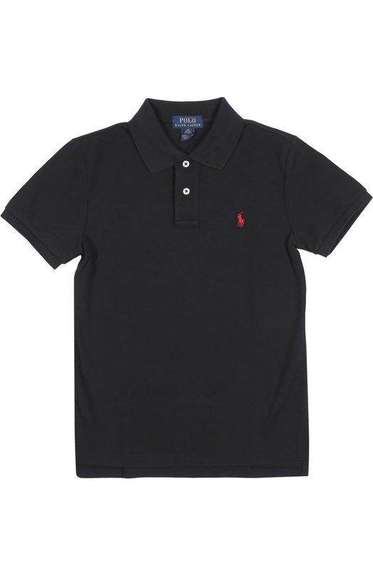 Поло Polo Ralph LaurenПоло<br>В производстве рубашки поло мастера марки, основанной Ральфом Лореном, использовали мягкий хлопок пике черного цвета. Модель, декорированная вышитым логотипом бренда, вошла в коллекцию сезона весна-лето 2016 года.<br><br>Российский размер RU: 40<br>Пол: Мужской<br>Возраст: Детский<br>Размер производителя vendor: L<br>Материал: Хлопок: 100%;<br>Цвет: Черный
