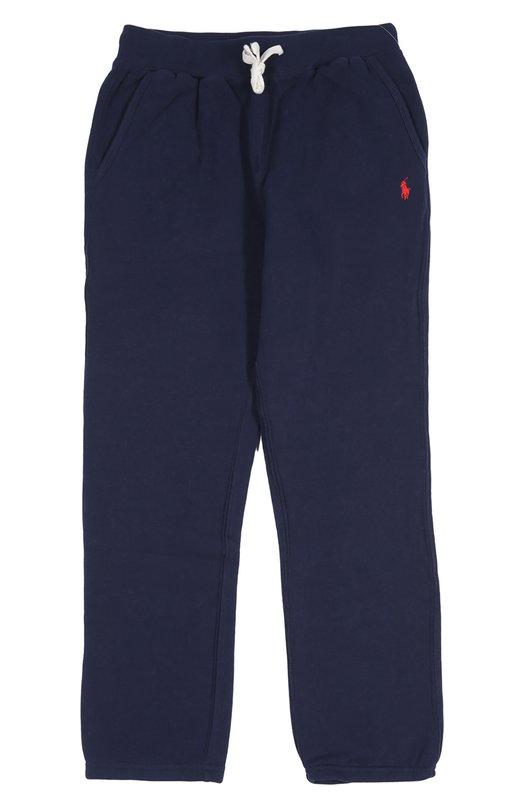 Брюки спортивные Polo Ralph LaurenСпорт<br>При изготовлении спортивных брюк из весенне-летней коллекции 2016 года мастера бренда, основанного Ральфом Лореном, использовали мягкую и плотную ткань синего цвета. Модель прямого кроя дополнена шнурком на поясе.<br><br>Российский размер RU: 40<br>Пол: Мужской<br>Возраст: Детский<br>Размер производителя vendor: L<br>Материал: Хлопок: 87%; Полиэстер: 13%;<br>Цвет: Синий