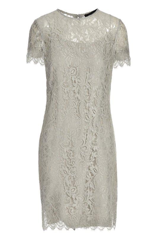 Платье Ralph LaurenПлатья<br>Ральф Лорен включил в коллекцию сезона осень-зима 2015 года серое платье-футляр с круглым вырезом и короткими рукавами. Модель из тонкого ажурного кружева дополнена шелковой подкладкой в тон. Наши стилисты рекомендуют носить с черными ботильонами на каблуке и небольшой сумкой.<br><br>Российский размер RU: 42<br>Пол: Женский<br>Возраст: Взрослый<br>Размер производителя vendor: 4<br>Материал: Вискоза: 91%; Полиамид: 9%; Шелк: 100%;<br>Цвет: Серый