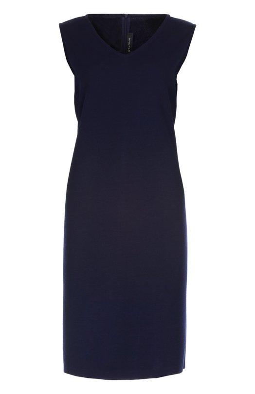 Вязаное платье St. JohnПлатья<br>В коллекцию сезона осень-зима 2015 года вошло темно-сине облегающее платье-футляр без рукавов. Модель с V-образным вырезом выполнена из эластичного трикотажа. Рекомендуем носить с укороченным жакетом, туфлями на шпильке и небольшой сумкой.<br><br>Российский размер RU: 52<br>Пол: Женский<br>Возраст: Взрослый<br>Размер производителя vendor: 14<br>Материал: Шерсть: 53%; Вискоза: 47%;<br>Цвет: Темно-синий