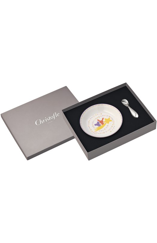 Детский набор: тарелка с ложкой Galaxie & Confetti Christofle 07754100