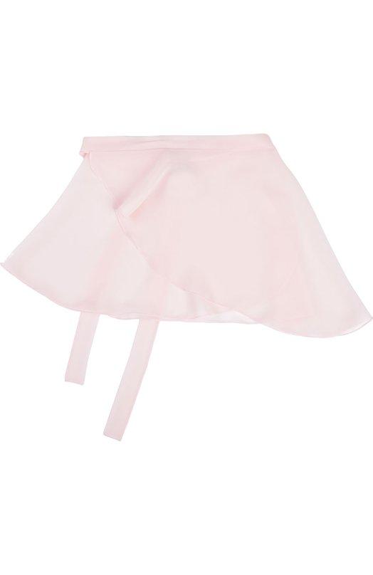Юбка DehaЮбки<br>Для производства асимметричной расклешенной юбки с запахом мастера марки использовали нежный струящийся креп розового цвета. Пояс дополнен длинными лентами, завязывающимися сзади на бант. Модель подойдет для занятий хореографией.<br><br>Российский размер RU: 40<br>Пол: Женский<br>Возраст: Детский<br>Размер производителя vendor: L<br>Материал: Полиэстер: 100%;<br>Цвет: Розовый