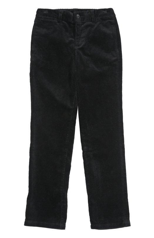 Брюки Polo Ralph LaurenБрюки<br>Ральф Лорен включил в весенне-летнюю коллекцию 2016 года черные брюки прямого кроя. Модель с боковыми и задними врезными карманами выполнена из мягкого вельвета. Сзади – вышитый красной нитью логотип бренда в виде игрока в поло.<br><br>Российский размер RU: 36<br>Пол: Мужской<br>Возраст: Детский<br>Размер производителя vendor: 8<br>Материал: Хлопок: 100%;<br>Цвет: Черный