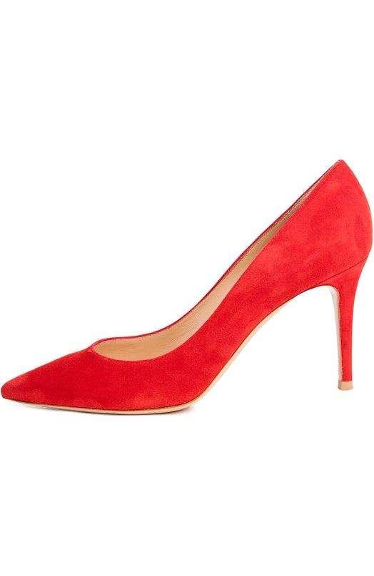 Купить Замшевые туфли Gianvito 85 на шпильке Gianvito Rossi, G24580/SUEDE, Италия, Красный, Стелька-кожа: 100%; Подошва-кожа: 100%; Замша натуральная: 100%;