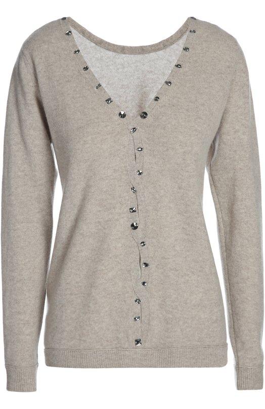 Вязаный свитер Les Ateliers De La MailleСвитеры<br><br><br>Российский размер RU: 42<br>Пол: Женский<br>Возраст: Взрослый<br>Размер производителя vendor: 03<br>Материал: Кашемир: 100%;<br>Цвет: Бежевый