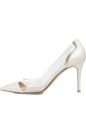 Туфли Plexy Pump Gianvito Rossi жёлтые | Фото №3