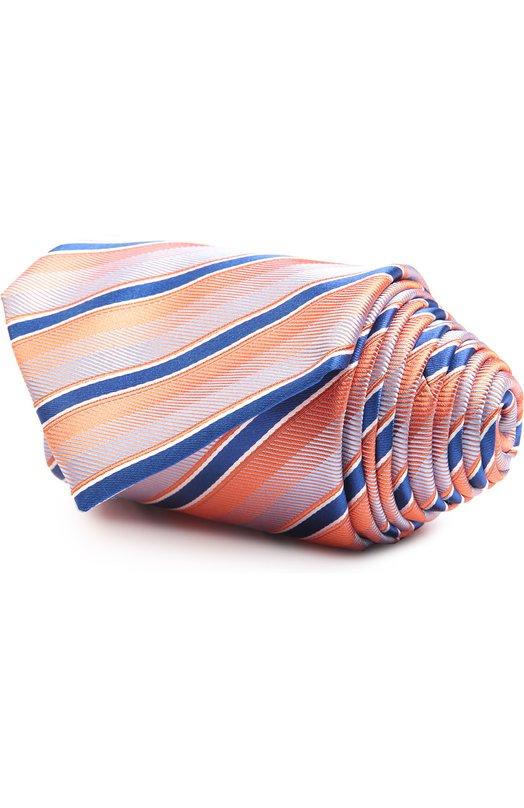 Купить Галстук Brioni, 062H/P5406, Италия, Оранжевый, Шелк: 100%;