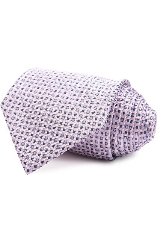 Галстук BrioniГалстуки<br>Розовый галстук с мелким квадратным рисунком вошел в весенне-летнюю коллекцию 2016 года. Мастера бренда, основанного Гаетано Савини и Надзарено Фонтиколи, изготовили аксессуар вручную из мягкого фактурного шелка.<br><br>Материал: Шелк: 100%;<br>Размер производителя vendor: NS<br>Цвет: Розовый<br>Пол: Мужской<br>Возраст: Взрослый