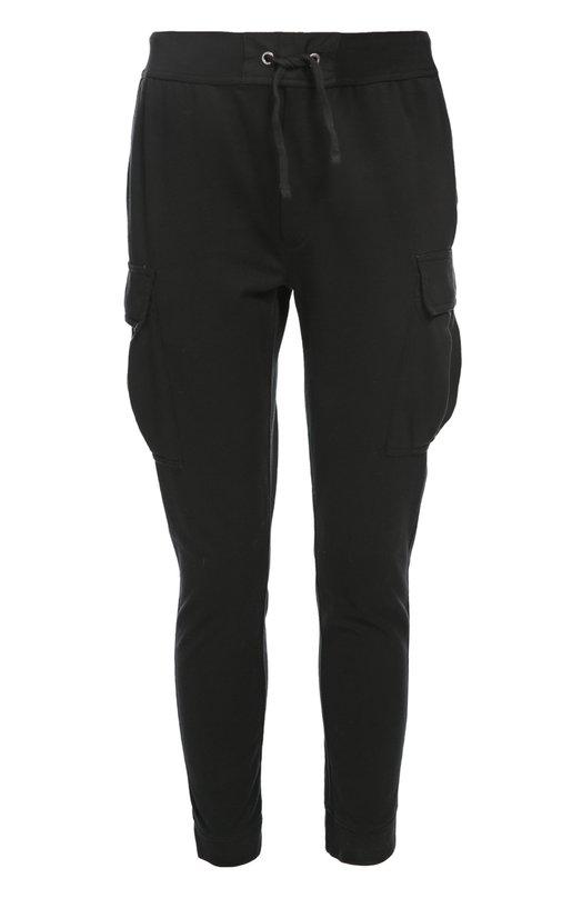 Брюки джерси Polo Ralph LaurenБрюки<br>Зауженные трикотажные брюки с эластичными манжетами и поясом-кулиской изготовлены из мягкого хлопкового джерси черного цвета. Модель из весенне-летней коллекции бренда, основанного Ральфом Лореном, дополнена накладными карманами. Попробуйте сочетать с лонгсливом, курткой и кроссовками.<br><br>Российский размер RU: 46<br>Пол: Мужской<br>Возраст: Взрослый<br>Размер производителя vendor: S<br>Материал: Хлопок: 90%; Полиэстер: 10%;<br>Цвет: Черный