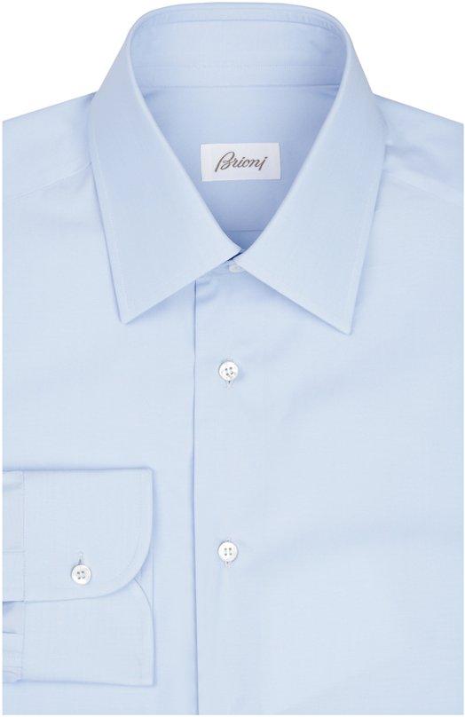 Сорочка BrioniРубашки<br>В весенне-летнюю коллекцию 2016 года вошла светло-голубая сорочка с французским воротником. Мастера марки создали приталенную модель с длинными рукавами из мягкого хлопкового поплина высочайшего качества.<br><br>Российский размер RU: 43<br>Пол: Мужской<br>Возраст: Взрослый<br>Размер производителя vendor: 43<br>Материал: Хлопок: 100%;<br>Цвет: Голубой