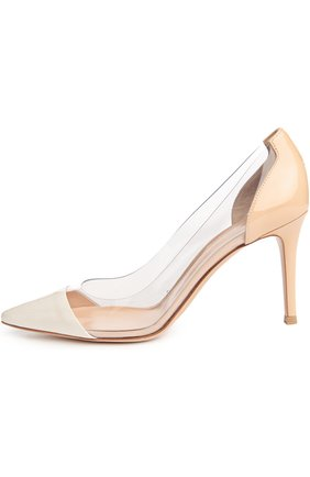 Туфли Plexy Pump Gianvito Rossi жёлтые | Фото №5