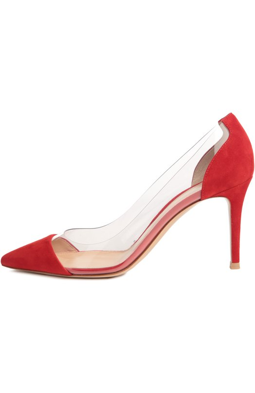 Купить Замшевые туфли Plexi на шпильке Gianvito Rossi Италия 5024121 G20938/SUEDE+PLEXI