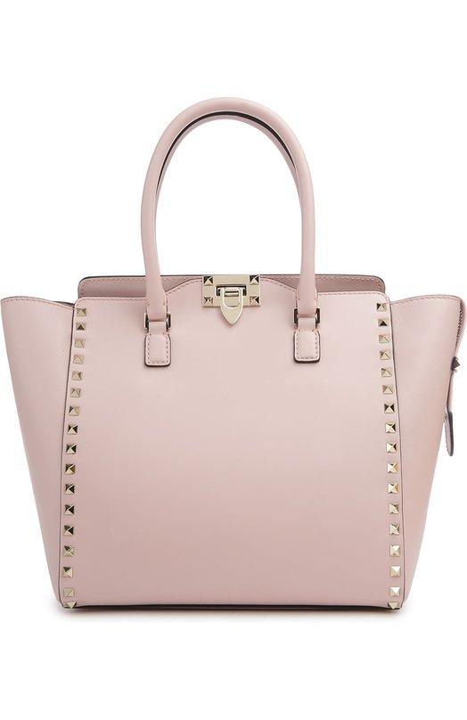 Купить Сумка-тоут Rockstud Valentino, KW2B0339/B0L, Италия, Светло-розовый, Кожа натуральная: 100%;