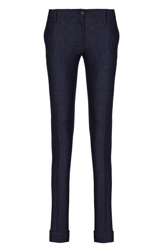 Брюки KitonБрюки<br>Темно-серые брюки skinny с двумя задними и двумя боковыми карманами произведены из мягкой эластичной шерсти с добавлением кашемира. Модель прямого кроя из осенне-зимней коллекции 2015 года застегивается на потайную молнию и пуговицу. Изделие дополнено .<br><br>Российский размер RU: 44<br>Пол: Женский<br>Возраст: Взрослый<br>Размер производителя vendor: 42<br>Материал: Шерсть: 90%; Кашемир: 8%; Эластан: 2%;<br>Цвет: Темно-серый