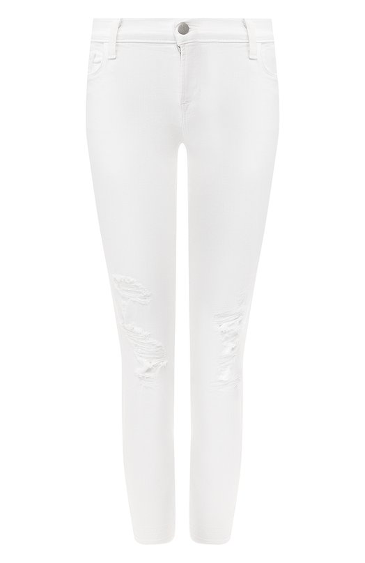 Джинсы J BrandДжинсы<br>В весенне-летнюю коллекцию 2016 года вошли белые джинсы силуэта slim fit с посадкой на талии. Мастера бренда изготовили модель из плотного эластичного хлопка стрейч с декоративными прорезями и потертостями.<br><br>Российский размер RU: 38<br>Пол: Женский<br>Возраст: Взрослый<br>Размер производителя vendor: 24<br>Материал: Хлопок: 90%; Полиэстер: 8%; Эластан: 2%;<br>Цвет: Белый