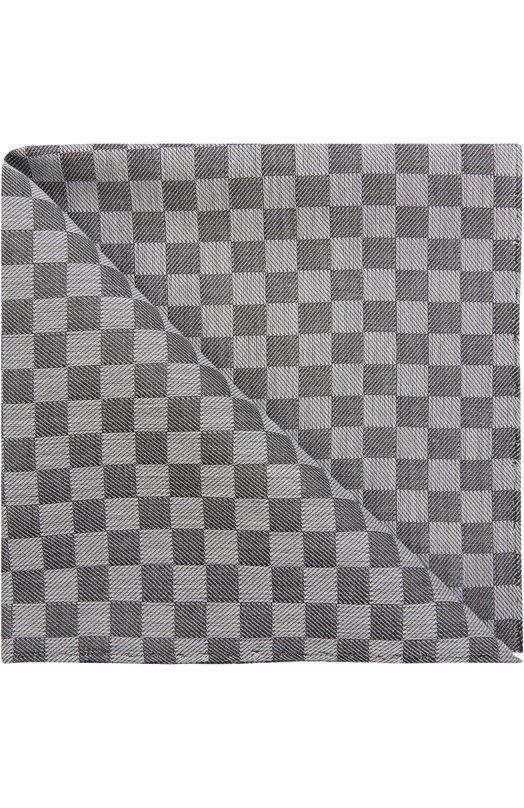 Платок из смеси хлопка и шелка в клетку Simonnot-Godard