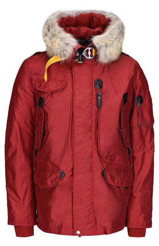 Куртка с подстежкой ParajumpersКуртки<br><br><br>Российский размер RU: 48<br>Пол: Мужской<br>Возраст: Взрослый<br>Размер производителя vendor: M<br>Материал: Пух: 90%; Отделка-акрил: 80%; Отделка-шерсть: 20%; Отделка мех нат.: 100%; Полиэстер: 100%; Подкладка-полиэстер: 100%; Перо: 10%;<br>Цвет: Красный