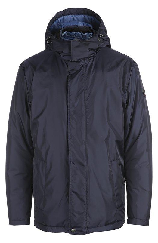 Куртка с воротником с капюшоном Paul&amp;SharkКуртки<br><br><br>Российский размер RU: 50<br>Пол: Мужской<br>Возраст: Взрослый<br>Размер производителя vendor: L<br>Материал: Подкладка-полиамид: 95%; Полиамид: 76%; Подкладка-полиуретан: 5%; Полиэстер: 12%; Полиуретан: 12%;<br>Цвет: Темно-синий