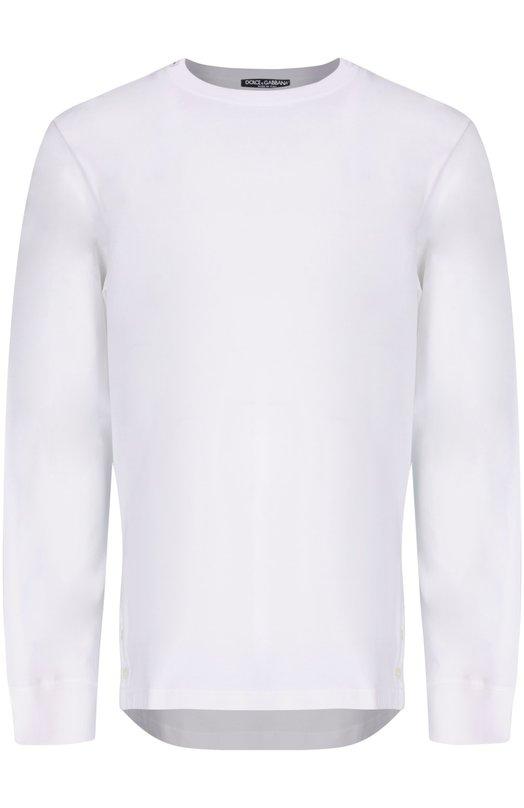 Футболка Dolce &amp; GabbanaФутболки<br><br><br>Российский размер RU: 56<br>Пол: Мужской<br>Возраст: Взрослый<br>Размер производителя vendor: 54<br>Материал: Хлопок: 100%;<br>Цвет: Белый