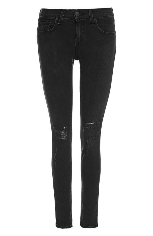 Джинсы Rag&amp;BoneДжинсы<br>В коллекцию сезона весна-лето 2016 года вошли черные джинсы skinny. Модель с пятью карманами и поясом со шлевками для широкого ремня сшита из плотного денима с потертостями на коленях. Наши стилисты рекомендуют носить с удлиненным пуловером и черными ботильонами.<br><br>Российский размер RU: 40<br>Пол: Женский<br>Возраст: Взрослый<br>Размер производителя vendor: 40<br>Материал: Хлопок: 98%; Полиуретан: 2%;<br>Цвет: Черный