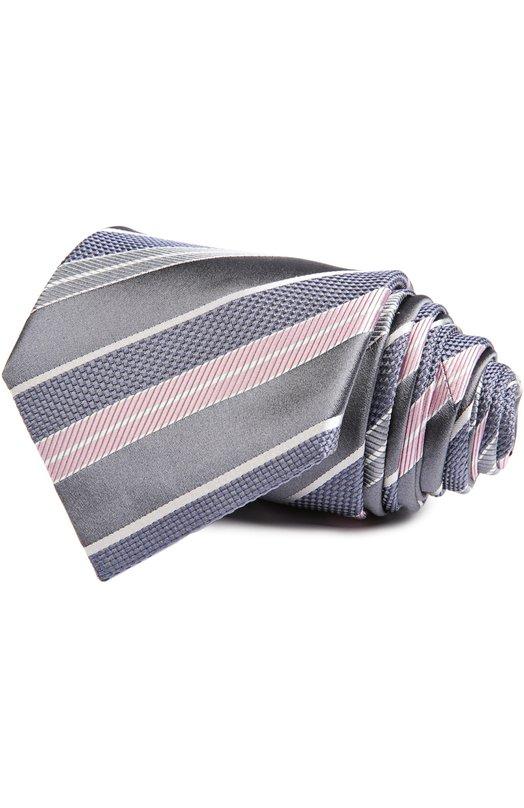 Галстук BrioniГалстуки<br>При производстве галстука серого цвета мастера марки использовали комбинацию шелка разных фактур: жаккарда, атласа и гренадина. Аксессуар, выполненный вручную, вошел в коллекцию сезона весна-лето 2016 года.<br><br>Пол: Мужской<br>Возраст: Взрослый<br>Размер производителя vendor: NS<br>Материал: Шелк: 100%;<br>Цвет: Серый