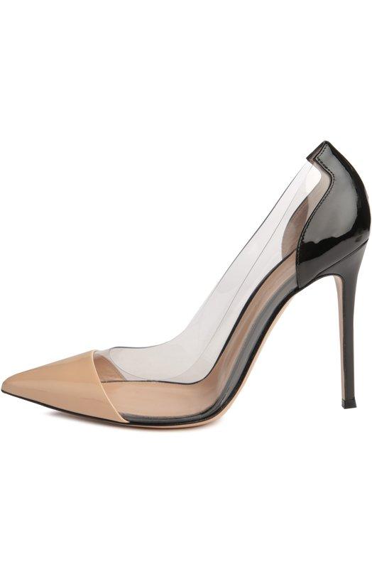 Купить Лаковые туфли Plexi на шпильке Gianvito Rossi Италия 5011055 G20140/PATENT+PLEXI