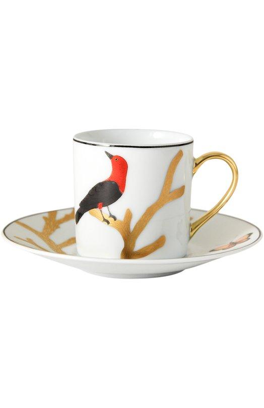 Кофейная чашка Aux Oiseaux BernardaudСервировка<br><br><br>Пол: Женский<br>Возраст: Взрослый<br>Размер производителя vendor: NS<br>Цвет: Бесцветный