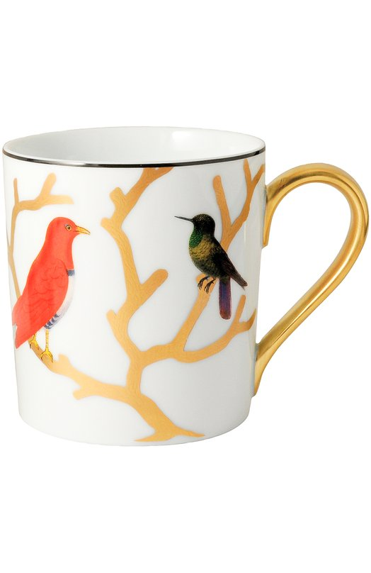 Кружка Aux Oiseaux BernardaudСервировка<br><br><br>Пол: Женский<br>Возраст: Взрослый<br>Размер производителя vendor: NS<br>Цвет: Бесцветный