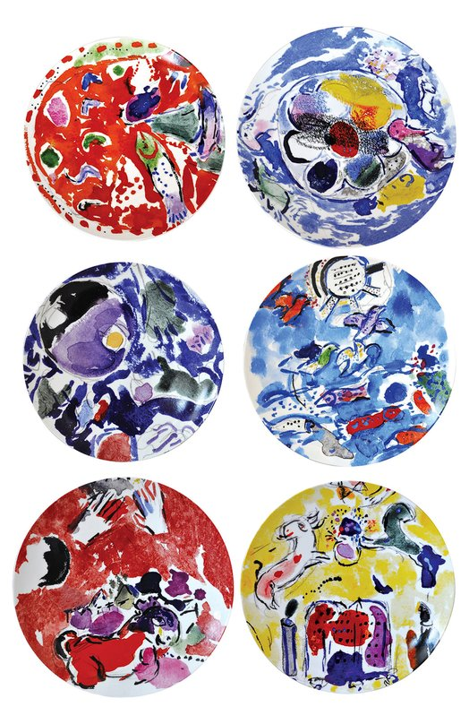 ����� �� 6-�� ������� Collection Marc Chagall Bernardaud 1168/21260-6-V2