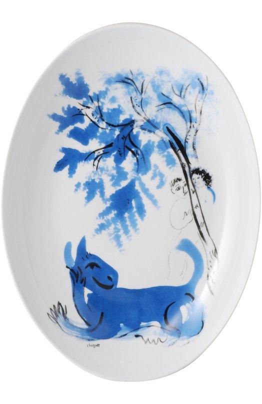 Блюдо овальное LAnimal Vert Collection Marc Chagall BernardaudСервировка<br><br><br>Пол: Женский<br>Возраст: Взрослый<br>Размер производителя vendor: NS<br>Цвет: Бесцветный