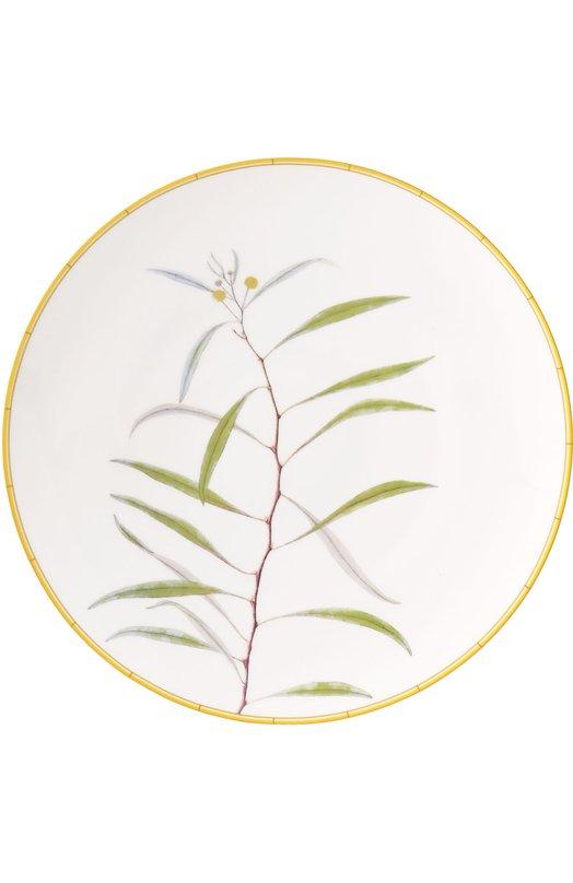 Тарелка обеденная Jardin Indien BernardaudСервировка<br><br><br>Пол: Женский<br>Возраст: Взрослый<br>Размер производителя vendor: NS<br>Цвет: Бесцветный