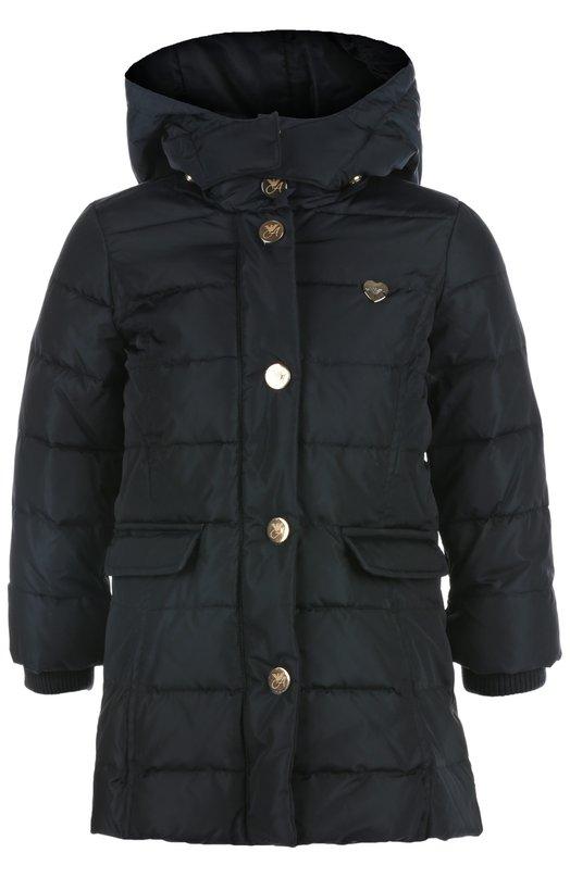 Пальто с капюшоном Giorgio ArmaniВерхняя одежда<br><br><br>Размер Years: 2<br>Пол: Женский<br>Возраст: Детский<br>Размер производителя vendor: 92-98cm<br>Материал: Пух: 80%; Перо: 20%; Полиамид: 100%; Подкладка-полиамид: 100%;<br>Цвет: Синий