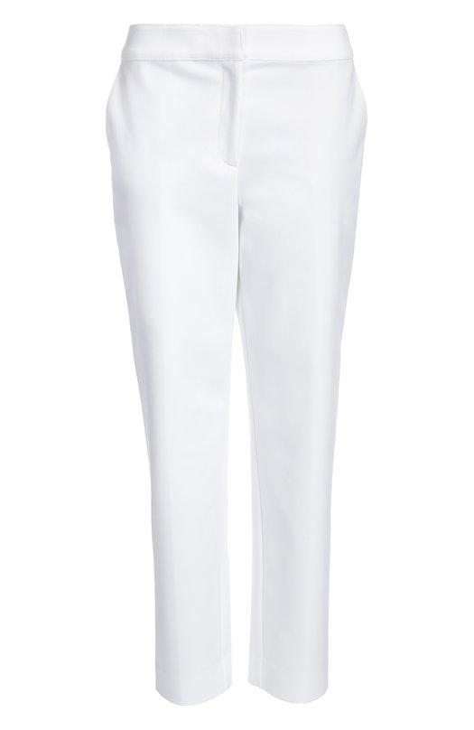 Брюки St. JohnБрюки<br>Дизайнеры марки включили в коллекцию сезона весна-лето 2016 года белоснежные зауженные брюки с широким поясом и двумя боковыми врезными карманами. Для производства модели была использована эластичная немнущаяся ткань.<br><br>Российский размер RU: 44<br>Пол: Женский<br>Возраст: Взрослый<br>Размер производителя vendor: 6<br>Материал: Эластан: 7%; Хлопок: 48%; Полиамид: 45%;<br>Цвет: Белый
