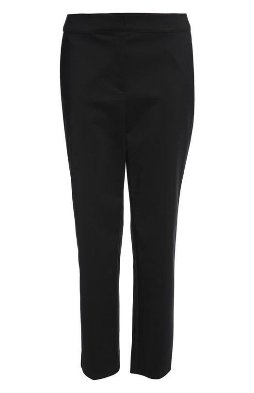 Брюки St. JohnБрюки<br>Дизайнеры марки включили черные зауженные брюки с классической посадкой на талии в коллекцию сезона весна-лето 2016 года. Модель с широким поясом, выполненная из немнущейся эластичной ткани, застегивается на молнию.<br><br>Российский размер RU: 48<br>Пол: Женский<br>Возраст: Взрослый<br>Размер производителя vendor: 10<br>Материал: Эластан: 7%; Хлопок: 48%; Полиамид: 45%;<br>Цвет: Черный