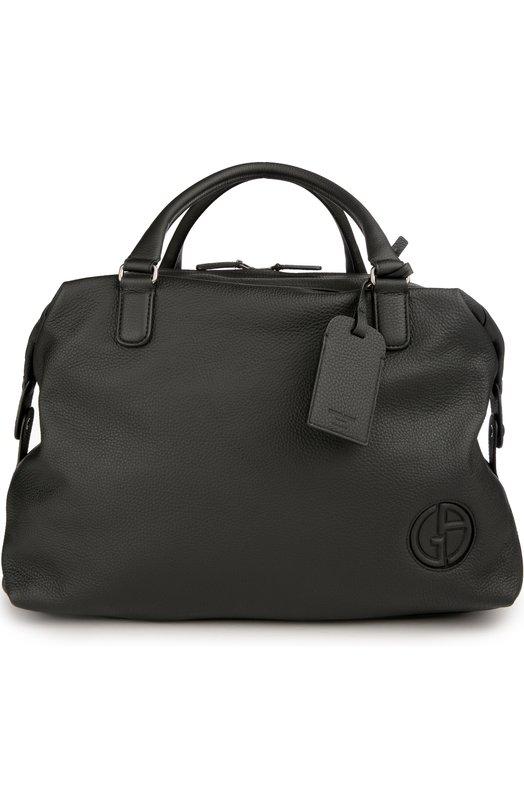 Дорожная сумка из текстурированной кожи Giorgio Armani Y2Q050/YB42J