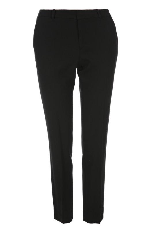 Брюки Ralph LaurenБрюки<br>Черные укороченные брюки вошли в весенне-летнюю коллекцию бренда, основанного Ральфом Лореном. Модель со стрелками выполнена из эластичной мягкой шерсти. Рекомендуем носить с темной блузой, серебристыми босоножками на шпильке и клатчем.<br><br>Российский размер RU: 40<br>Пол: Женский<br>Возраст: Взрослый<br>Размер производителя vendor: 6<br>Материал: Шерсть: 96%; Эластан: 4%;<br>Цвет: Черный